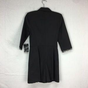 Zara Pants - Zara Black Tuxedo Lace Trim Romper
